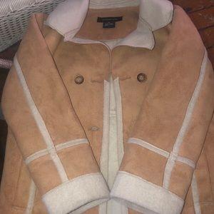 Suede Calvin Klein little girls coat